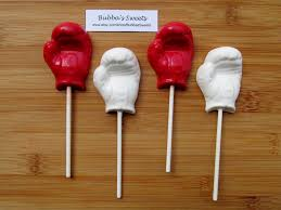 boxing glove chocolate pops 12 boxing favors boxing