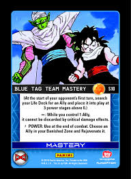 awesome card games dbz analysis blue tag team mastery