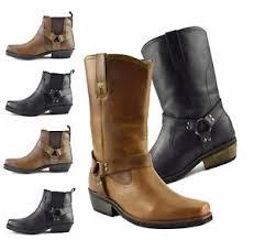 gringo s boots canada mens gringos cowboy biker leather harness boots