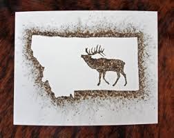 bull elk drawing etsy