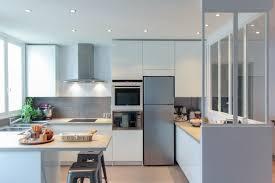 cuisine verte et grise exemple de cuisine avec ilot central 10 indogate chambre vert