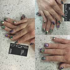 mardigras nail art design and manicure by caitlyn chroma salon