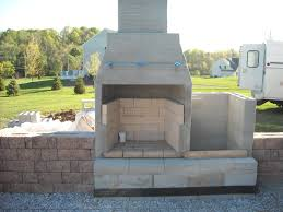 Concrete Block Home Designs Cool Cinder Block Outdoor Fireplace Home Design Image Simple With