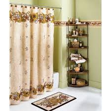 bathroom adorable outhouse shower curtain with unique patterns stunning olive outhouse shower curtain near corner iron bath shelves and fancy bath mat