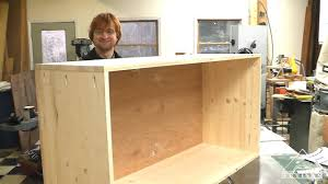 how to build a wood cabinet with doors new easy to make cabinet video up on artisanconstruction youtube