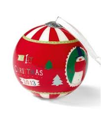 Baby S First Christmas Baubles Uk by Baby U0027s First Ceramic Bauble Baby U0027s First Christmas El Hazouri