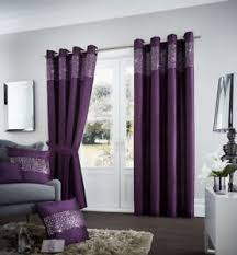 Aubergine Curtains New Aubergine Purple Sequins Eyelet Ring Top Fully Lined Curtains