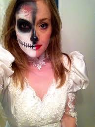 Dead Bride Halloween Costume Dead Bride Halloween Costume Idea Skull Face Makeup