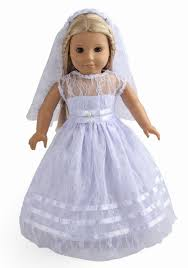 communion dress 2pc doll clothes white communion dress wedding dress