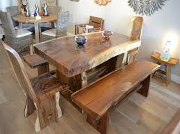 Chunky Rustic Dining Table Chunky Wooden Dining Room Table Dining Room Tables Design
