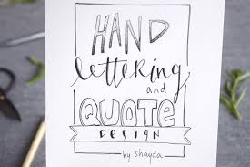 how to design letter a quote