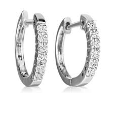 earrings uk diamond 0 11ct gold hoop earrings swag uk jewellers