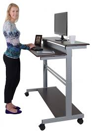 Computer Desk Stand 48 Mobile Fixed Height Stand Up Desk Stand Up Desk Store