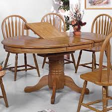 Round Pedestal Dining Table With Leaf Tables Simple Round Dining Table Expandable Dining Table As