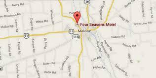 Malone Ny Map Four Seasons Motel Malone Ny Booking Com