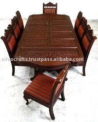 indian wood dining table indian teak wood hand carved dining room set restaurant furniture