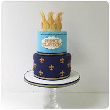 fleur de lis prince baby boy crown birthday cake cakes and bakes