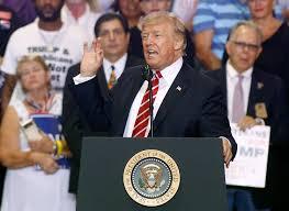 by linking trump with hate groups clinton spotlights the trump s 2017 phoenix arizona rally full speech transcript time