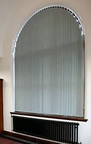 Windows Vertical Blinds - custom shaped vertical blinds for curved sloping and bow windows