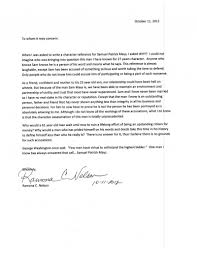 Character Recommendation Letter Template by Character Reference Letter Mays Defense Fund