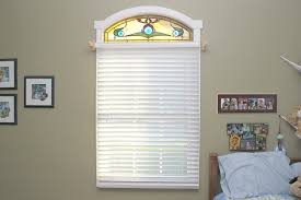 interior stained glass transom windows with french window and