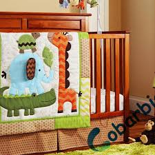 Baby Boy Nursery Bedding Sets 8 Pc Cotton Animal Embroidered Baby Crib Bedding Set Newborn Baby