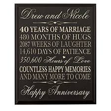 40th wedding anniversary gift 40 year anniversary gift