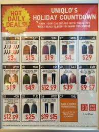 uniqlo countdown new deal each day from 14 26 november