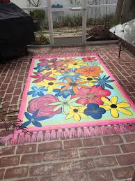 Painting A Cement Patio by Painted Rug On Concrete Patio Decor Ideas Pinterest Paint