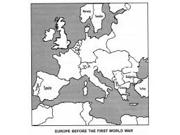 World War I Alliances Map by World War I And World War Ii