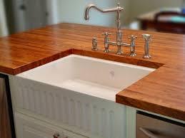 Stainless Steel Kitchen Island With Butcher Block Top Interior White Fiberglass Under Mount Sink Combined Granite Top