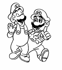 mario brother coloring printable laura williams