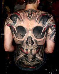 back tribal 30 back skull tattoos fantastic