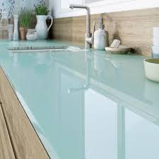 plan de travail cuisine verre plan de travail cuisine en verre prix idée de modèle de cuisine