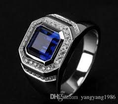 blue man rings images Wholesale fine hot shigh quliry solitarie blue sapphire 925 jpg