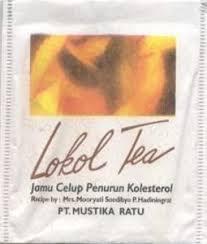 Lokol Tea tea bag lokol tea jamu celup penurun kolesterol mustika ratu