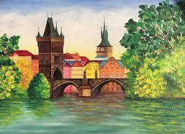 paint places karl s bridge oil painting dremova elena paintings prints