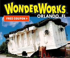 Wonderworks Upside Down House Myrtle Beach - outta control magic comedy dinner show discount coupons