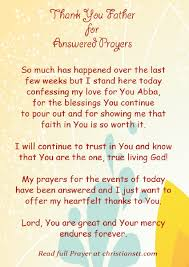 thanksgiving prayer for answered prayers best images collections