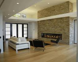 interior design ideas for living rooms modern natural stone wall