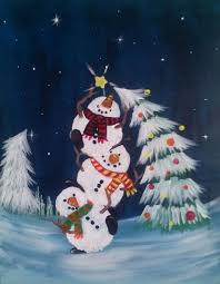 25 winter painting ideas christmas paintings