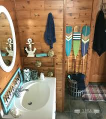 lake house style paddles and oars white arrows home