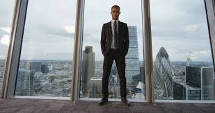 Office View by 4k Portrait Serious Ambitious Businessman In London City Office