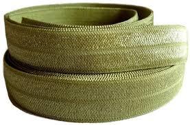 elastic ribbon by the yard 5 8 inch foe olive green fold elastic ribbon by the yard by