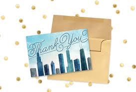 free printable thank you card chicago wedding
