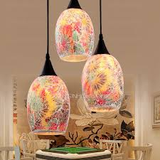 Pendant Light Shades 3 Light Glass Shade Floral Church Pendant Lights