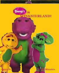 image barney in winksterland vhs cover png custom barney wiki