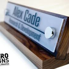 Custom Desk Name Plates by Desk Name Plate And Accessory From Garo Signs Llc