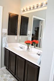furniture gorgeous white cabinets using java gel stain for wonderful wooden bathroom cabinet using black java gel stain with white top plus sink and faucet