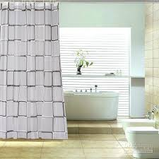 discount black and white check grid peva shower curtain bath